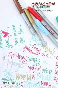 The Easiest Way To Spread Christmas Cheer is With BIC -Mark It® Pens! Fun idea for a random act of kindness - this season! Christmas Crafts To Make, Christmas Holidays, Christmas Decorations, Christmas Stuff, Merry Christmas, Kids Writing, Cheer Up, Cool Diy Projects, Easy Gifts