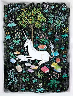 http://sosuperawesome.com/post/145946589492/the-unicorn-is-reading-by-steph-terao-on-society6