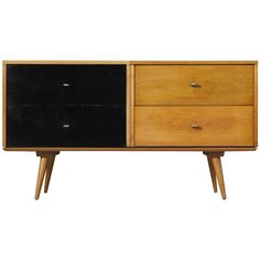 Paul McCobb Small Sideboard in Maple | From a unique collection of antique and modern cabinets at https://www.1stdibs.com/furniture/storage-case-pieces/cabinets/