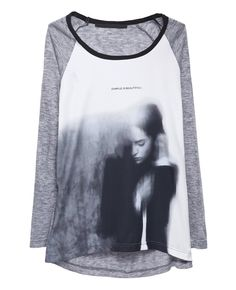 Graphic-print Long-sleeved T-shirt