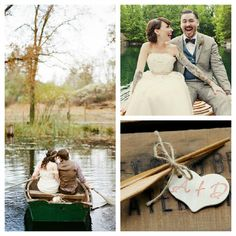 A canoe for two at Lake Tahoe Weddings