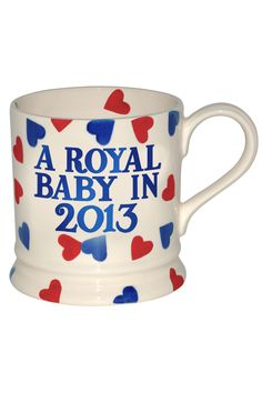 Emma Bridgewater Royal Baby mug - this is the one that caused trouble and hasn't been put into production.
