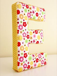 Make Your Own Fun, Fabric Covered Letters :-)