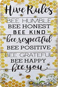 Bee Crafts, Decor Crafts, Bee Quotes, Humble Bee, Bee Party, Wall Decor Quotes, Bee Theme, Dollar Store Crafts, Christmas Crafts