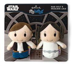 Hallmark Itty Bittys Star Wars Han Solo & Princess Leia Set
