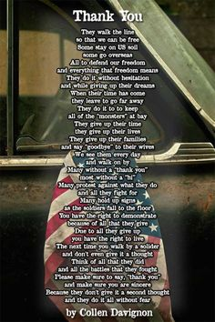 Awesome Veterans Day Quotes, Messages and Sayings on Memorial Day - - This post contains awesome Veterans Day quotes. Get awesome Veterans Day Quotes from different people and some personalities for inspiration. Military Quotes, Military Mom, Army Mom, Military Veterans, Military Families, Vietnam Veterans, Vietnam War, Memorial Day Thank You, Memorial Day Quotes