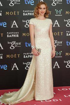Marta Hazas in a Jorge Vázquez gown.