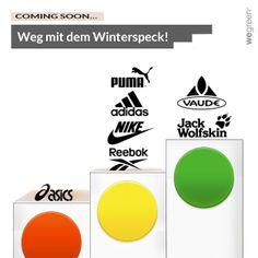 Weg mit dem Winterspeck! Sportmarken im Vergleich. www.wegreen.de