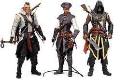 Assassin's Creed Series 2 Action Figures Conor, Aveline & Adewale Official New