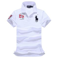 Ralph Lauren RL Polo Shirt Men Clothing Solid Mens Polo Shirts Business Casual Polo shirt Cotton Sportswear Breathable Business Casual Polo, Shirt Men, T Shirt, Polo Shirts, Sportswear, Men's Fashion, Polo Ralph Lauren, Chanel, Clothing