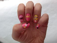 Valentine minions! Got the idea from @nailstorming on Instagram