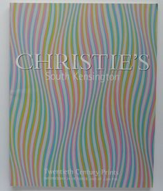 9229 Twentieth Century Prints Christie's Auction Catalog  Oct 2001 S. Kensington