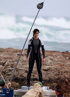 Jennifer filming Catching Fire in Turtle Bay Beach in Hawaii..Im still processing their arena outfit hmmmm i dont know if i like it or not...