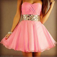 Cute Pink Dress fashion dress pink pretty girly