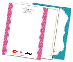Download this Mr. and Mrs. Letterheads and other free printables from MyScrapNook.com