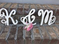 Hey, I found this really awesome Etsy listing at https://www.etsy.com/listing/272337920/shabby-chic-letter-wall-decor-cursive