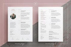 Resume/CV | Abby by Keke Resume Boutique on @creativemarket