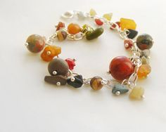 Natural stone bracelet semi precious jewelry от kapelusznik, $38.50