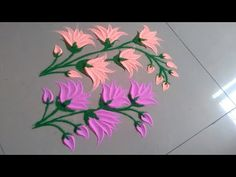 Use dry colour to make beautiful and attractive flower rangoli design by Jyoti Raut Rangoli Rangoli Designs Latest, Rangoli Designs Flower, Rangoli Border Designs, Small Rangoli Design, Rangoli Patterns, Colorful Rangoli Designs, Rangoli Ideas, Rangoli Designs Diwali, Flower Rangoli