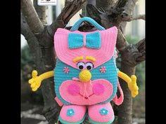 #طريقة #عمل #شنطة #كروشيه #للاطفال 😍😍الجزء الاول - YouTube Crochet Beach Bags, Crochet For Boys, Crochet Purses, Crochet Toys, Easy Crochet Socks, Baby Rucksack, Crochet Shoulder Bags, Crochet Dolls Free Patterns, Crochet Backpack