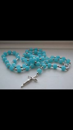 Jade Blue Rosary by WreathsAndRosaries on Etsy, $12.00