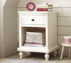 Add some legs to a nightstand anthony makes Kids' Nightstands, Kids' Side Tables & Night Stands Girls Room Paint, Girls Bedroom, Master Bedroom, Bedroom Furniture Makeover, Baby Furniture, Kids Room Bed, Pottery Barn Kids, New Room, Kids Nightstands