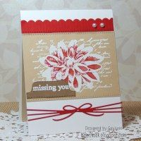 Neat Nook Creations: Missing You Flower Card Little Red Wagon, Distress Markers, Pretty Pink Posh, Unity Stamps, Miss You Cards, December 2014, Flower Cards, Handmade Cards, Nook