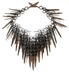 CARRIE MAE ROSE - scissors neckpiece http://wearableweapons.com/weapons