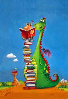 George and his Dragon - Els Petits Infants: Bon dia de Sant Jordi… I Love Books, Books To Read, My Books, Cute Dragons, Dragon Art, Children's Book Illustration, Whimsical Art, Book Lovers, Book Worms