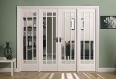 cool vintage glass doors with wooden frame inspiration