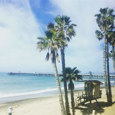 San Clemente  #palmtrees #beach #ocean #westcoast #california #socal #train #metrolink #daytrip #journey #sky #blue #pier #waves #weekend #trip #francaisauxusa #expatlife #travel