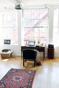 simple + pretty loft space.