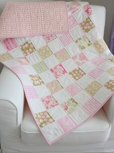 Simple Baby Quilt by Korolewishna