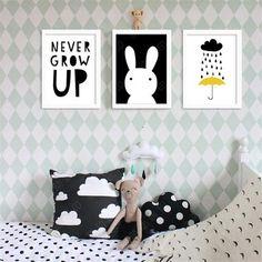 'Never Grow Up' - Kids Canvas Art Prints