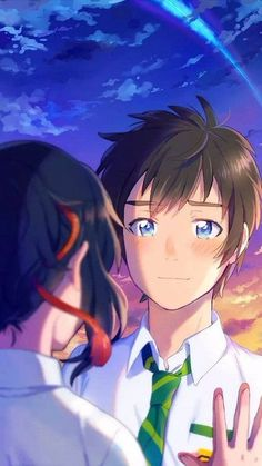 Read Kimi No Nawa from the story Secuil Gambar Anime by Ebikatsoo (udang rebon) with reads. Kimi no Na wa. Wallpaper Memes, Your Name Wallpaper, Cute Couple Wallpaper, Girl Wallpaper, Disney Wallpaper, Otaku Anime, Manga Anime, Anime Kawaii, Anime Love