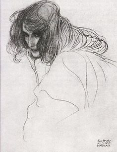 Gustaw Klimt- genius in the draft. The gray tone always exhibits personality. Sadness, mystery, inducement