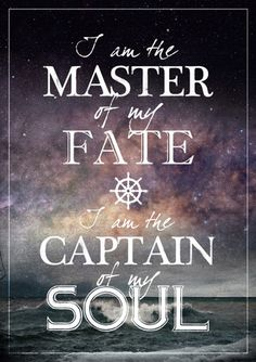 Buy I am the master of my fate posters from Strikingposters.com at very affordable prices.