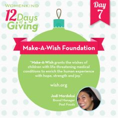 #MakeAWish creates memorable experiences for kids with life-threatening illnesses. Join Jodi in granting wishes that bring joy to the lives of these special children. #12DaysofGiving