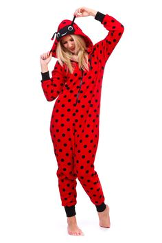 8086d11b862 Ladybug Onesie Pajamas - Ragstock Onesie Pajamas