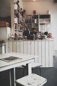 Coffee bar, no link, just inspiration. Rough boards, white washed.?.?