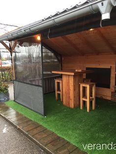 verandazeilen.nu – verandazeilen van HDPE Backyard Privacy Screen, Pergola Patio, Backyard Patio Designs, Backyard Landscaping, Covered Patio Design, Gazebo Decorations, Front Garden Landscape, Patio Enclosures, Outdoor Cover