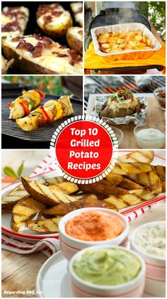 Top 10 Grilled Potato Recipes #grilled #vegetables #barbecue #potatoes