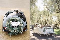 10 idées pour décorer la voiture des mariés, wedding, car, voiture mariage