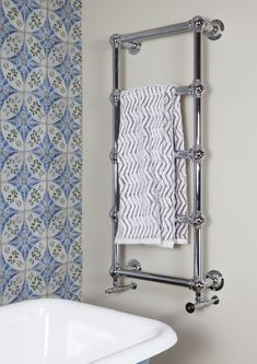 Need to warm you towels but prefer a more traditional style, look no further. Available in a number of finishes (gold, brushed nickel or antique brass) for standard hot water systems, all electric and dual fuel. Best Radiators, Warm Bathroom, Bathroom Radiators, Towel Warmer, Towel Rail, Water Systems, Brushed Nickel, Antique Brass, Towels