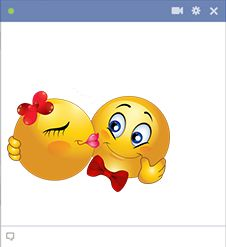 Sweet kiss smileys - Our smileys will spice up Facebook with a little bit of romance!