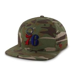 1268073f9485d9 Philadelphia 76ers 47 Brand Camo Air Drop Adjustable Strapback Hat Cap *  Find out more about