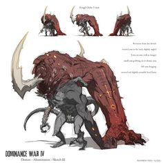 Dominance War - Sketch 3 by nJoo.deviantart.com on @deviantART