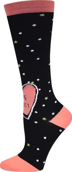 c5f7d0d4e4 Comfort and fashion combine for these compression socks. The polka dot socks  feature contrast heel