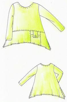 Lagenlook Einzel - Schnittmuster für Shirt TUNIS