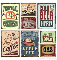 Vintage Style Signs Stock Photos - Image: 27498583